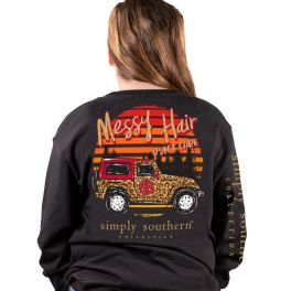 Simply Southern Care Long Sleeve T-Shirt - YOUTH