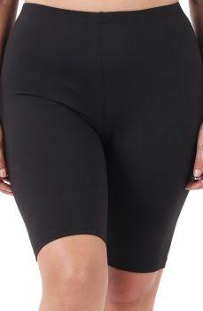 Sassy Girl Biker Shorts In Plus - Black