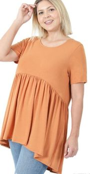 Next To Me Top In Plus - Butter Orange