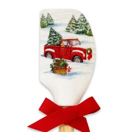 Red Truck Christmas Spatula
