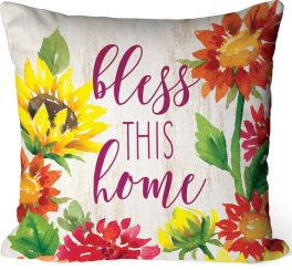 Bless This Home Indoor/Outdoor Pillow
