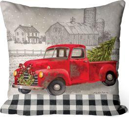 Christmas Truck Indoor/Outdoor Pillow