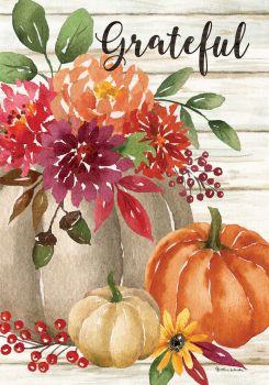 Grateful Floral House Flag