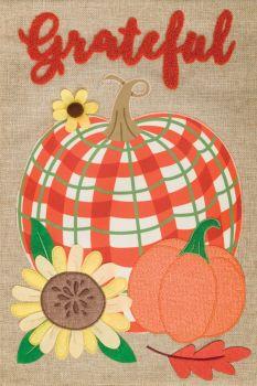Plaid Pumpkin Garden Flag