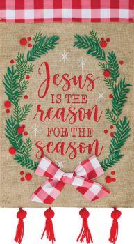 Jesus Wreath Garden Flag