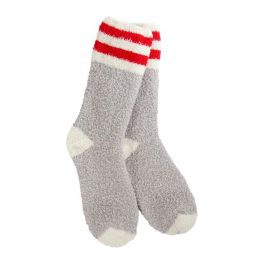 World's Softest Knit Pickin' Fireside Crew Socks - Rugby
