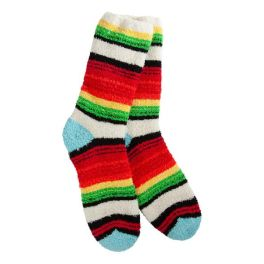 World's Softest Knit Pickin' Fireside Crew Socks - Sante Fe
