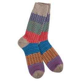 World's Softest Weekend Gallery Crew Socks - Harmony