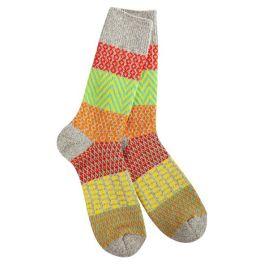 World's Softest Weekend Gallery Crew Socks - Happy