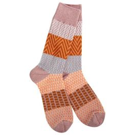 World's Softest Weekend Gallery Crew Socks - Tranquility