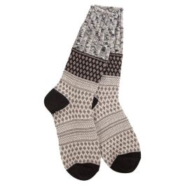 World's Softest Weekend Gallery Textured Crew Socks - Oatmeal Confetti