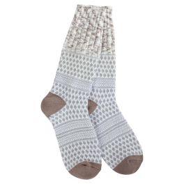 World's Softest Weekend Gallery Textured Crew Socks - Rocky Confetti