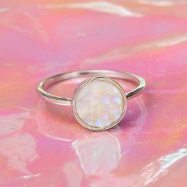 Puravida Silver Druzy Ring