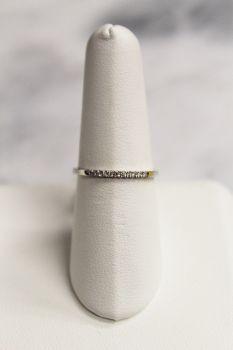 10K White Gold .06Ct Diamond Band