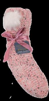 Simply Southern Pom Camper Socks - Pink