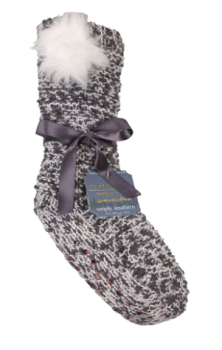 Simply Southern Pom Camper Socks - Iron