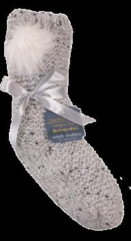 Simply Southern Pom Camper Socks - Grey