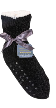 Simply Southern Chenille Camper Socks - Black