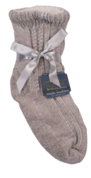 Simply Southern Chenille Camper Socks - Grey