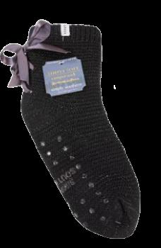 Simply Southern Bow Camper Socks - Black