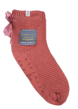 Simply Southern Bow Camper Socks - Mauve