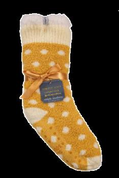 Simply Southern Dot Camper Socks - Mustard