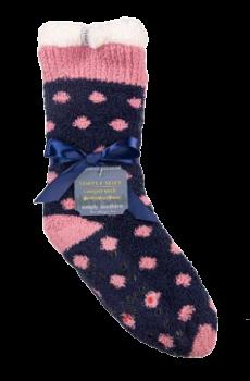 Simply Southern Dot Camper Socks - Navy