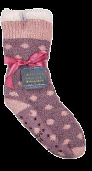 Simply Southern Dot Camper Socks - Grapeade