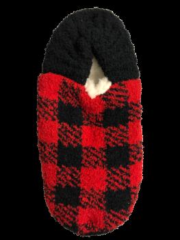 Simply Southern Slipper Socks - Red Plaid