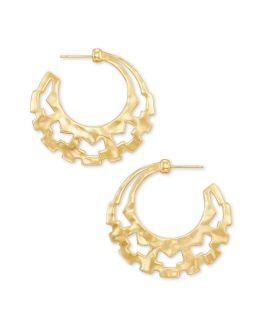 Kendra Scott Shiva Hoop Earrings In Gold