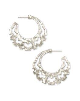 Kendra Scott Shiva Hoop Earrings In Silver