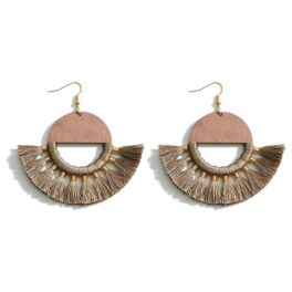 Never A Dull Moment Earrings - Brown