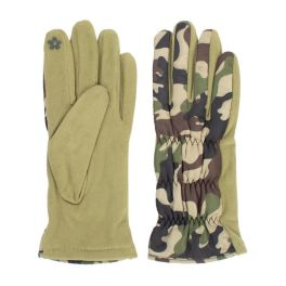 Camo Puffer Gloves - Green