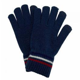 Stripe Knit Smart Touch Gloves - Navy