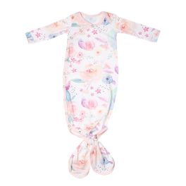 Copper Pearl Newborn Knotted Gown - Bloom