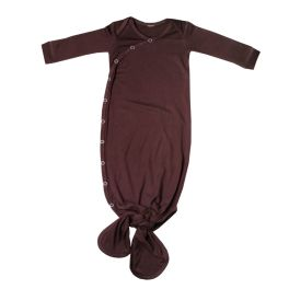 Copper Pearl Newborn Knotted Gown - Moose