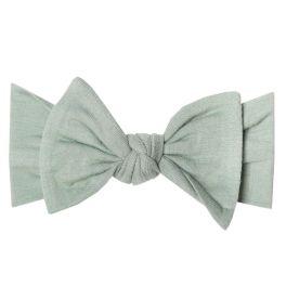 Copper Pearl Knit Headband Bow - Briar