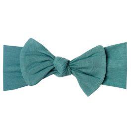 Copper Pearl Knit Headband Bow - Journey