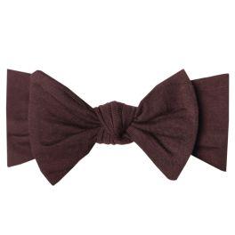 Copper Pearl Knit Headband Bow - Moose