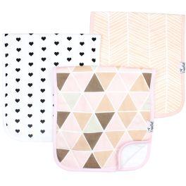 Copper Pearl Burp Cloth Set - Blush