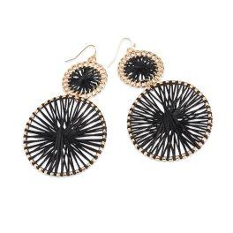 Go Round Earrings - Black