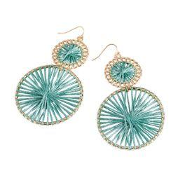 Go Round Earrings - Sea Green