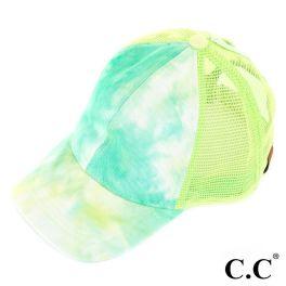 CC Tie-Dye Ponytail Trucker Cap - Mint
