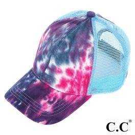 CC Tie-Dye Ponytail Trucker Cap - Navy