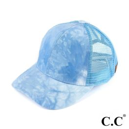 CC Tie-Dye Ponytail Trucker Cap - Light Blue