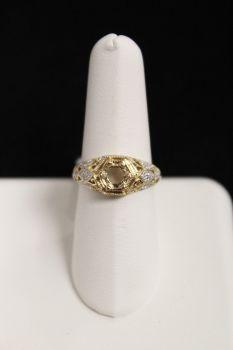 14K Yellow Gold .25Ct Diamond Semi Mount
