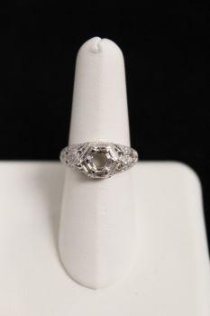 14K White Gold .25Ct Diamond Semi Mount