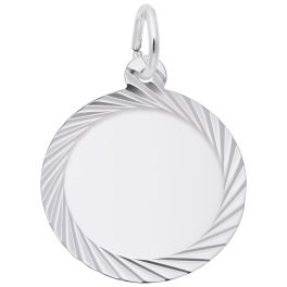 Faceted Disc Charm