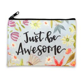 Just Be Awesome Zippered Coin Purse