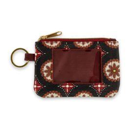 Boho Pinwheel ID Wallet Keychain